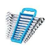 DURATECH Combination Wrench Set, Metric, 11-Piece, 8, 10, 11, 12, 13, 14, 15, 16, 17, 18, 19mm, 12-Point, Chrome Vanadium Steel, with Plastic Tray