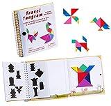 Magnético del Libro de los Rompecabezas del Viaje de Tangram, Disección de las Formas del Rompecabezas de Tangrams con el Juguete Educativo del Coeficiente Intelectual de Challenge de la Solución