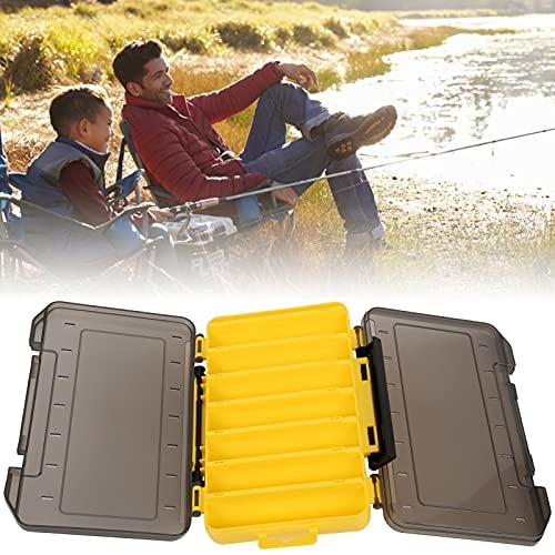 Eulbevoli Contenedor de señuelos de Pesca, Caja de señuelos, Caja Transparente, Caja de conservación de anzuelos de Pesca con Hebilla, Accesorio de Pesca para Amantes de la Pesca(Yellow)