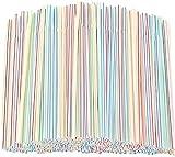 1000 pajitas de plástico multicolor para beber en casa, fiestas, cócteles, salones, bares
