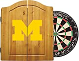 Imperial Officially Licensed NCAA Merchandise: Dart Cabinet Set with Steel Tip Bristle Dartboard, Michigan Wolverines