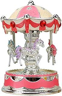 GJHK Boîte De Musique Crown Carrousel, Lanterne, Girlfriends, Couples Cadeaux, Musique Sinueuse, Lumières, Boîte À Musiqu...