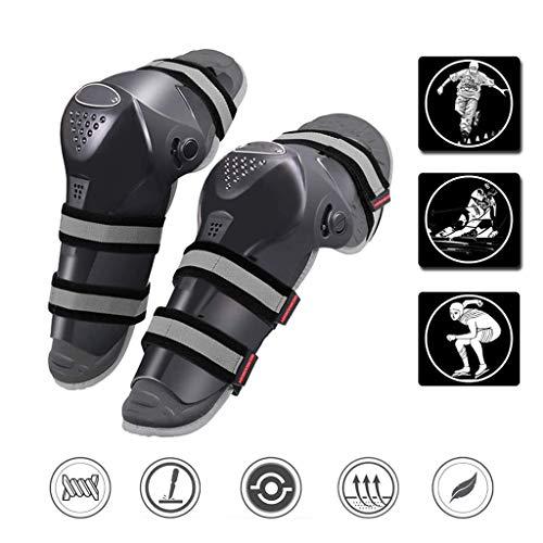 SZH ZPTENT 1 Paar Erwachsener Motorrad Knie-Schienbeinschoner, Langes Bein-Hülsen-Antislip-Schutz Knie, High-Impact Flexible Atmungsaktiv, Für Reiten Radfahren Skating