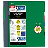 Five Star Advance Spiral Notebook, 3 Subject, College Ruled Paper, 150 Sheets, 11' x 8-1/2', Green (73136)