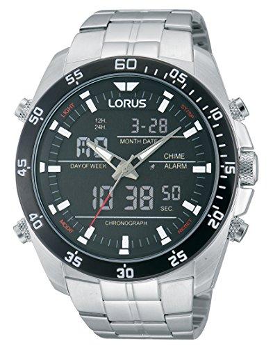 Lorus Sport Herren-Uhr Chronograph Edelstahl mit Metallband RW611AX9