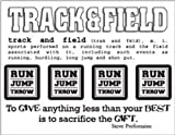 SRM Stickers Say It with Stickers Mini Track and Field Scrapbooking