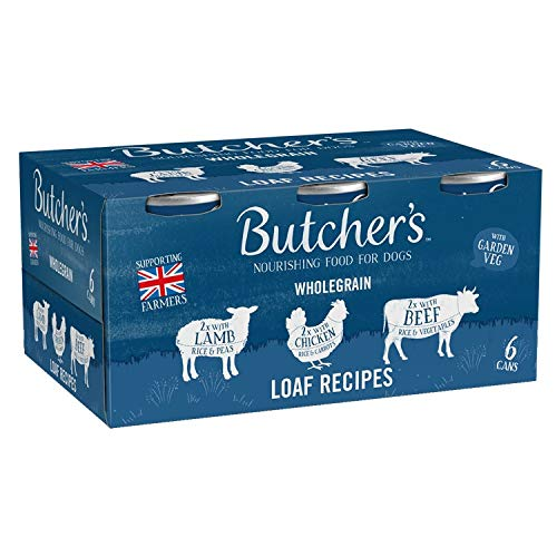 BUTCHER'S Wet Dog Food Tin Cans Wholegrain Loaf Pate Recipes...