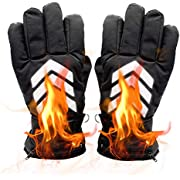 Electric Warm Heated Gloves - Rechargeable Battery Powered Heat Gloves Kit, Winter Sport Outdoor Thermal Insulate Gloves for Men Women Skiing/Climbing/Riding, Touchscreen Waterproof Handwarmer, 7.4V