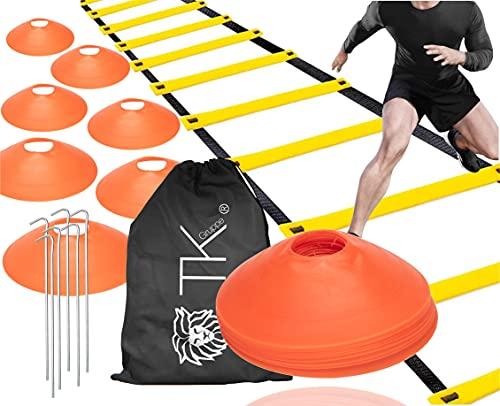 Set di coordinazione per l'agilità - leader di allenamento e coni di marcatura per accessori per l'allenamento di slalom e accessori per il calcio per calcio, atletica leggera