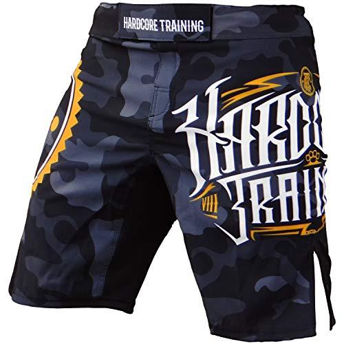 Hardcore Training Night Camo Fight Shorts Men's Boxing MMA Combat BJJ Grappling Fitness Muay Thai Kickboxing No Gi