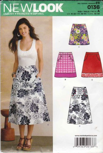 New Look NL6106 - Patrón de Costura para Falda (22 x 15 cm)