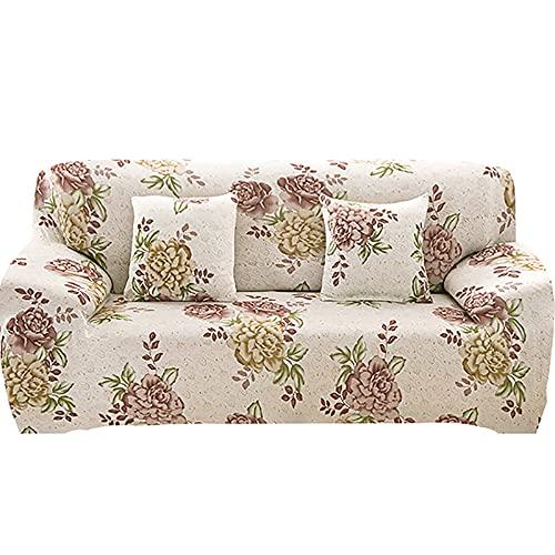 WXQY Funda de sofá elástica elástica para Sala de Estar,Funda de sillón de combinación de Esquina geométrica,Funda de sofá de protección para Mascotas A6 de 4 plazas