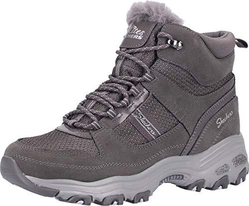 Skechers Damen Stiefel D'Lites D´Licious Grau, Schuhgröße:EUR 41