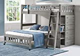Discovery World Furniture Charcoal Twin Over Full Loft
