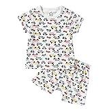 Baby nest ベビー服 男の子 女の子 パジャマ コットン 上下2点セット ルームウェア 寝間着 シャツ パンツ 赤ちゃん服 新生児服 クルマ 100 24-36ヶ月