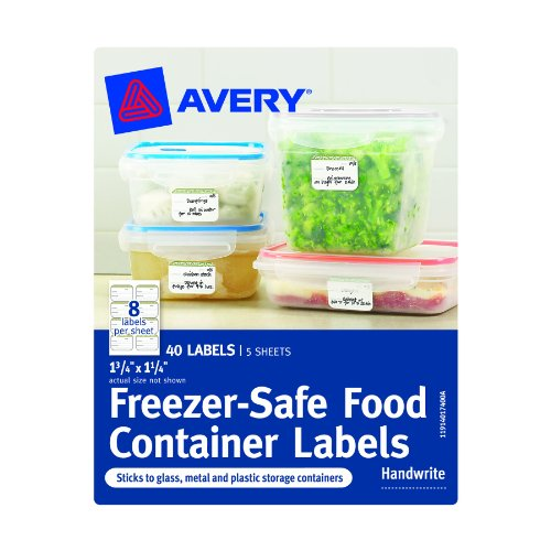 Avery Freezer-Safe Food Container Labels, 1.25 x 1.75-Inches, Pack of 40 (40174) Photo #2