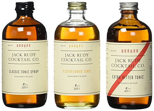 Jack Rudy Tonic Trio (3 x 237ml Sirup: Extra Bitter Tonic, Elderflower Tonic, Classic Tonic)