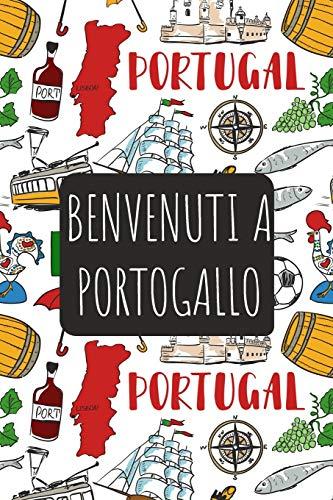 Benvenuti a Portogallo: 6x9 Diario di viaggio I Taccuino con liste di controllo da compilare I Un regalo perfetto per il tuo viaggio in Portogallo e per ogni viaggiatore