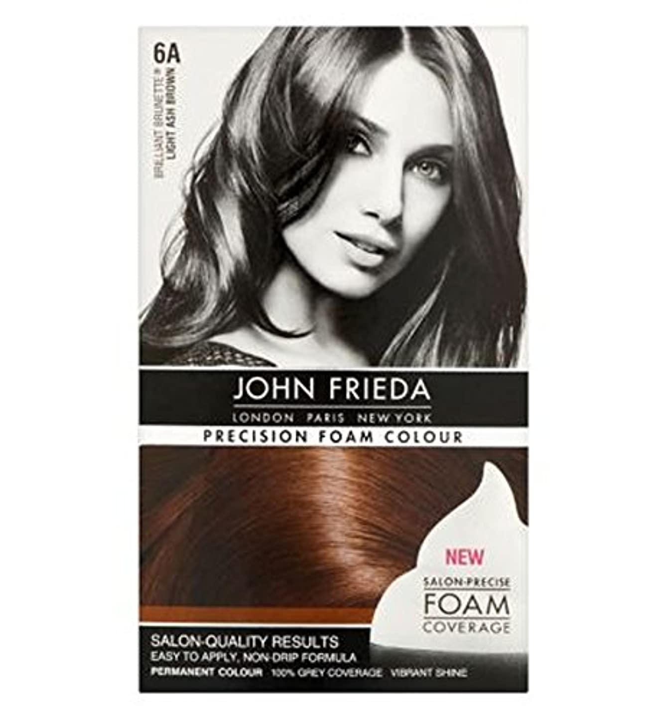 ピラミッド硬いつかむJohn Frieda Precision Foam Colour 6A Light Ash Brown - ジョン?フリーダ精密泡カラー6Aの光灰褐色 (John Frieda) [並行輸入品]