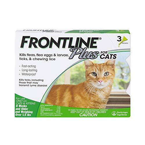 Frontline Plus Flea and Tick Treatment for Cats