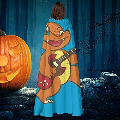 NULLYTG Charmander Guitarra Eléctrica Unisex Navidad Halloween Bruja Caballero con Capucha Vampiros...