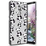 Surakey Compatible avec Coque Huawei Mate 10 Pro,Étui Huawei Mate 10 Pro Ultra Léger Transparent Silicone Gel TPU Souple Housse Étui Coque de Protection Bumper et Anti-Scratch, Panda