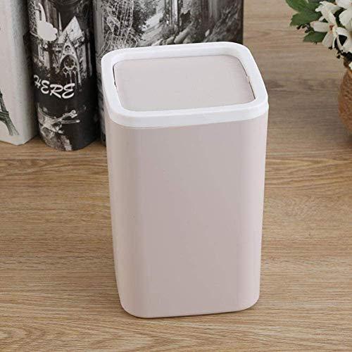 LMZJLU Trash Design Studio Sparare Kunststoffbehälter mit Deckel für Druckringe, EIN Eimer in Bin, Khaki, Blau, Pink, 4.3 x 4.3 x 6.6 Zoll kaki