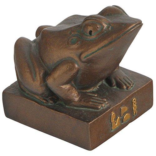 Culture Spot Egyptian Frog Goddess Heket Kek Statue with Bronze Finish