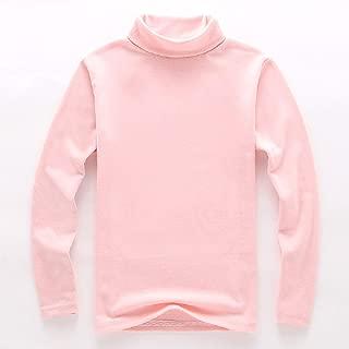 Noubeau Girls Boy Basic Solid Color Turtleneck T-Shirt Tops Long Sleeve Clothes