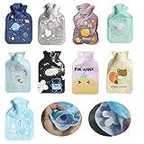 Dancepandas Borsa dell'acqua Calda Piccola 9PCS Hot Water Bottle Bambini Carini Bottiglia di Acqua Calda per Mano Piede Caldo
