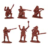 French & Indian War 1754-1763 Northeastern Woodland Indians Set #1 (18) 1/32 Armies in Plastic by Armies in Plastic