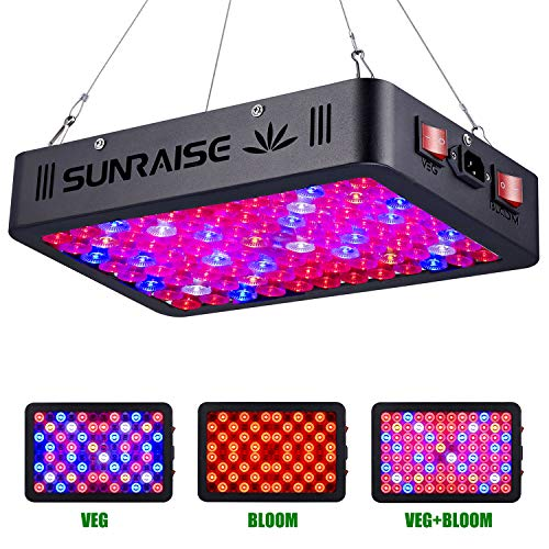 1000W LED Grow Light Full Spectrum for Indoor Plants Veg and Flower SUNRAISE LED Grow Lamp with Daisy Chain Triple-Chips LED (15W LED 96pcs)