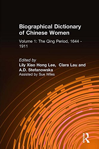 Biographical Dictionary of Chinese Women: v. 1: The Qing Period, 1644-1911 (English Edition)