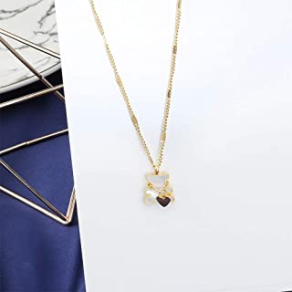 YERTTER Women Tiny Chain Choker Necklace Teddy Bear Love Necklace Jewelry Cute Necklace for Party Prom Vacation (Gold)