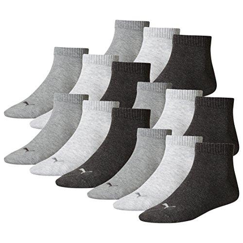 PUMA Unisex Quarter Socken Sportsocken 15er Pack anthracite / grey 800 - 47/49