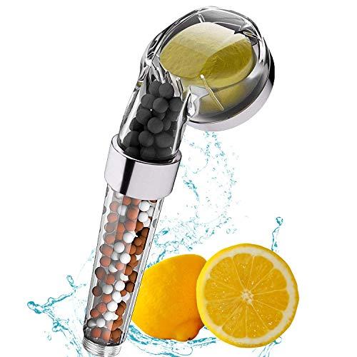 Handbrause Wassersparend mit Druckerhöhung lonenfilter und Vitamin C Kalkfilter Duschkopf Weiches Hartes Wasser, Regendusche und Massage Funktion