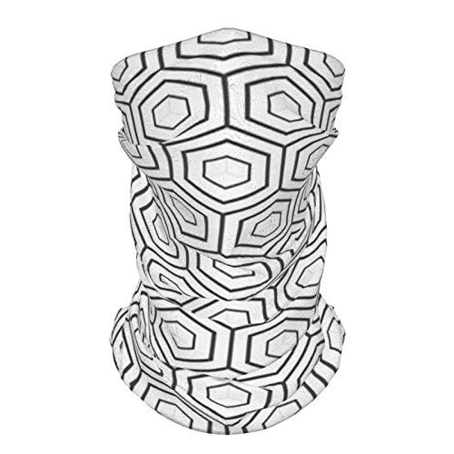 Diadema de seda al aire libre geométrica antigua griega marroquí estilo inspirado geométrica mosaico formas impresión imagen blanco y negro reutilizable cuello polaina cara bufanda