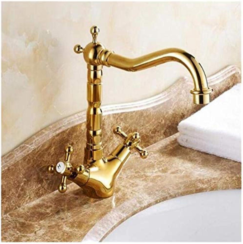 Wasserhahn Küche Bad Garten Waschtischmischer Bad Küche Goldene Doppelgriff Einlochmontage Wasserhahn Ctzl3209