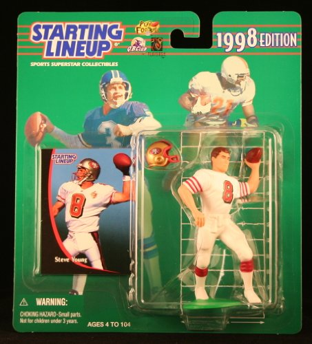 Starting Lineup Steve Young / SAN Francisco 49ERS 1998 NFL Action Figure & Exclusive NFL Collector Trading Card