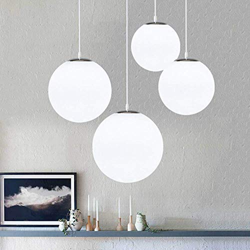 DAXGD Lampadario con sfera di vetro, Lampada a sospensione, Lampada interna singola per Camera da letto, Soggiorno, Corridoio, Ristorante, Bar 1pcs (20CM)