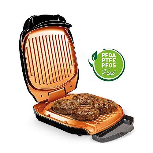 MediaShop Livington Low Fat Grill – kompakter Kontaktgrill für fettarmes Grillen – Elektrogrill mit Antihaft-Keramikbeschichtung und Fettablauf - 9
