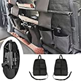 Winunite Tactical Car Seat Back Gun Rack Holder Organizer with Molle Panel Front Seatback Cover Storage Bag for Hunting Rifle Shotgun Mount Universal Fit Vehicles SUV Truck MPV Pickup - 2PCS