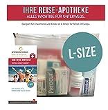 Reiseapotheke von Apotheken-Express (L-Size) 11-teilig inkl. einer Handcreme von Pharma Nature und praktischem Beratungshandbuch