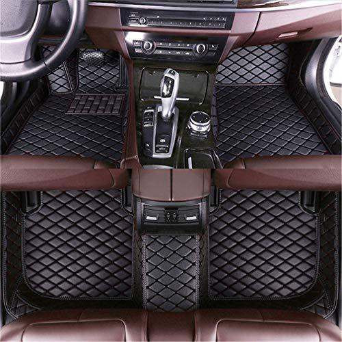 Muchkey Custom Auto Fußmatten für 99% Automodelle Fussmatten All-Schutz Leder wasserdichte Auto Zubehör schwarz