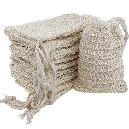 Dreamtop - Bolsa de jabón de sisal natural (10 unidades)