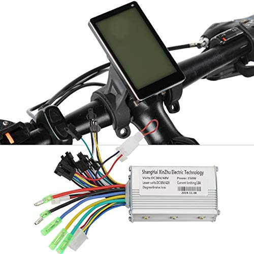 DAUERHAFT Motor de Scooter eléctrico Controlador sin escobillas Tamaño pequeño, para Bicicleta...