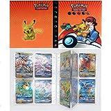SunAurora Raccoglitore Carte Pokémon,Pokemon Carte Album, Album Pokemon Cards GX Ex Trainer, 30 Pagine - può Contenere Fino a 240 Carte (Pikachu&Ash)