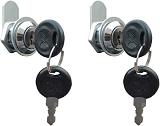 VictorsHome Cam Lock for Cabinet Drawer - 5/8 Inch (16mm) Cylinder Length, Fits for 3/8 Inch Max. Panel Thickness, Chrome Finish, Keyed Alike, 2 Pack