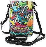 Abstract Trippy Graffiti Paint Women Crossbody Bag Soft...