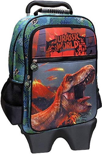 CYP BRANDS MC-31-JW - Mochila con Trolley Extraíble Jurassic World, Verde